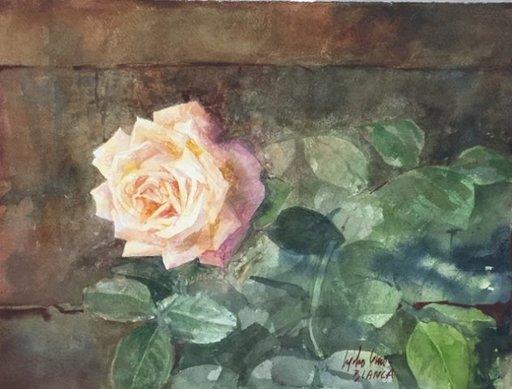 Pedro CANO - Gemälde - Rosas amarillas
