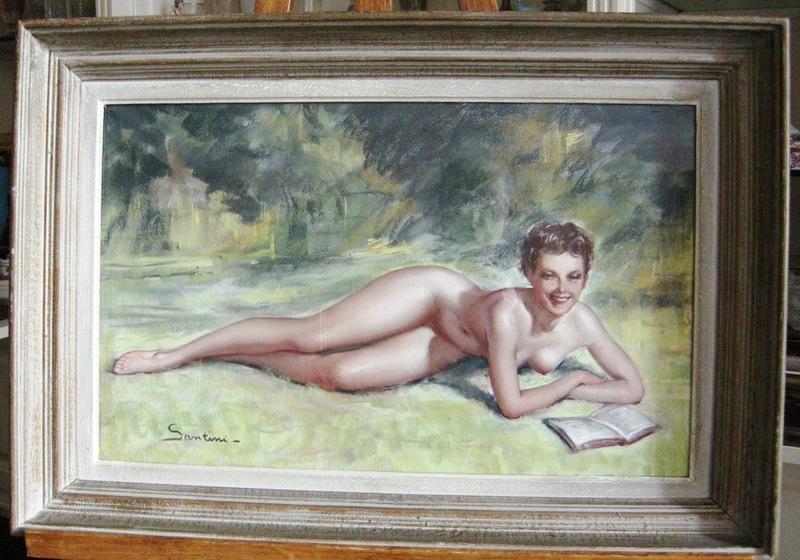 Jeunes mannequins nus d'art