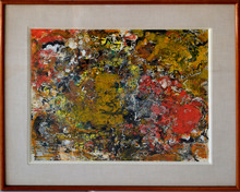 Alexandre ISTRATI - Painting - Composition Brown and Red