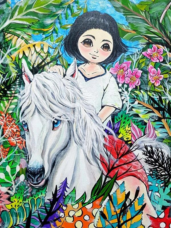 Seung-Hun SHIN - Gemälde - Fantasy Jesuisland - Chun-ya's Journey of Happiness