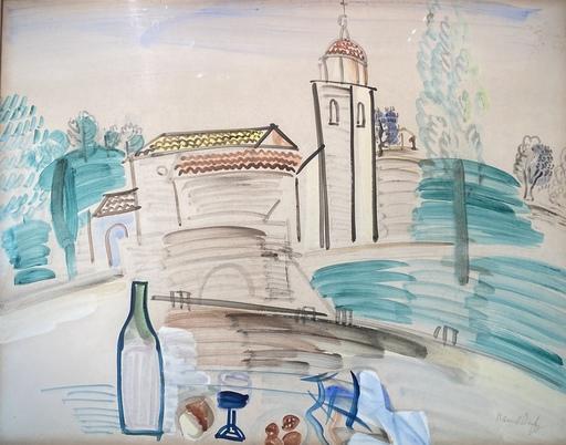 Raoul DUFY - Zeichnung Aquarell - Paysage  provençale