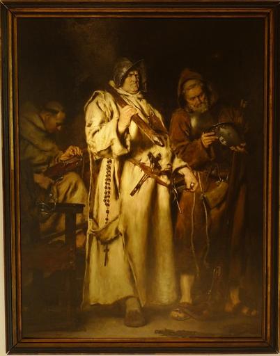 Antonio Salvador CASANOVA Y ESTORACH - Painting - EL MOTIN DE LOS MONJES EN PARIS