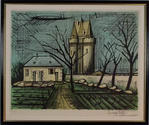 Bernard BUFFET - Estampe-Multiple - Saint Servan, La Tour Solidor