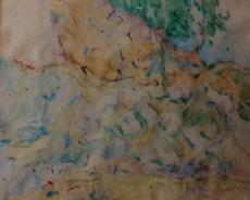Herbert BOECKL - Drawing-Watercolor - Landschaft Karawanken