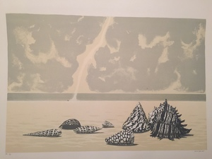 Gino GUIDA - Stampa-Multiplo - paesaggio marino
