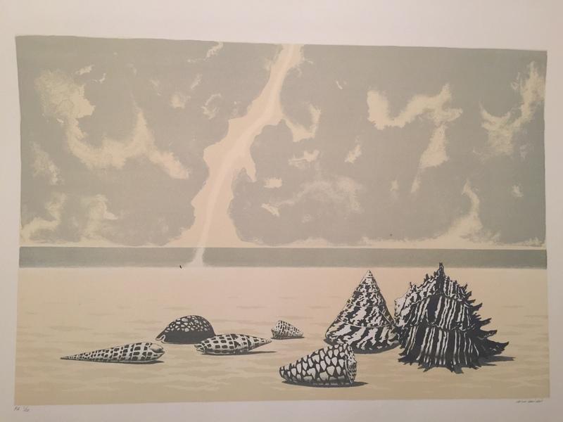 Gino GUIDA - Stampa Multiplo - paesaggio marino