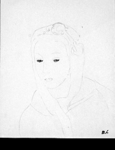 Marie LAURENCIN (1883-1956) - Visage au foulard