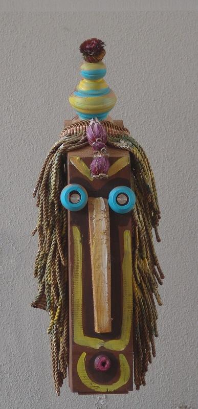 Enrico BAJ - Sculpture-Volume - Maschera tribale