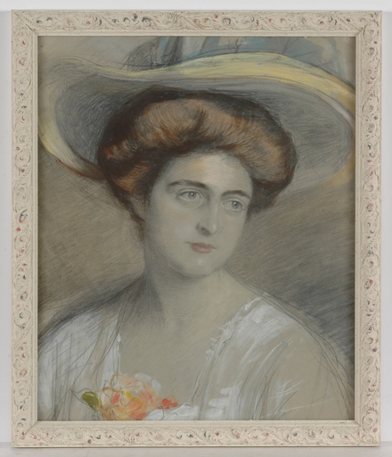 "Adolf PIRSCH - Dibujo Acuarela - Portrait of a Lady "" by Adolf Pirsch, ca.1910, Watercolour"