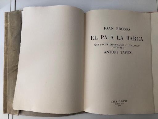 Antoni TAPIES - Grabado - El pa a la barca