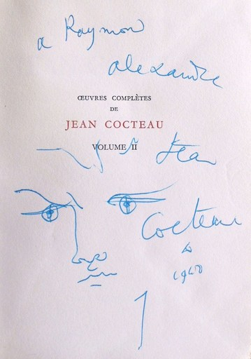 "Jean COCTEAU - Drawing-Watercolor - ""Orphée"""