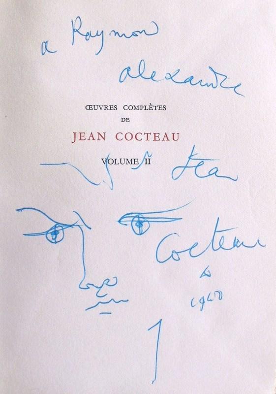 """Jean COCTEAU - Dibujo Acuarela - """"Orphée"""""""