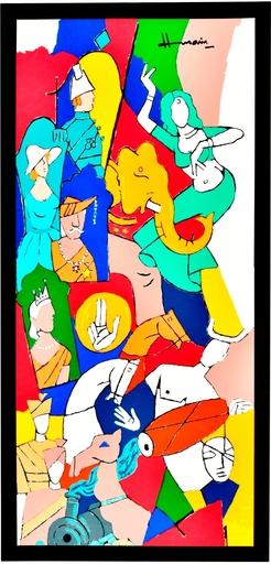 Maqbool Fida HUSAIN - Grabado - British Raj Series