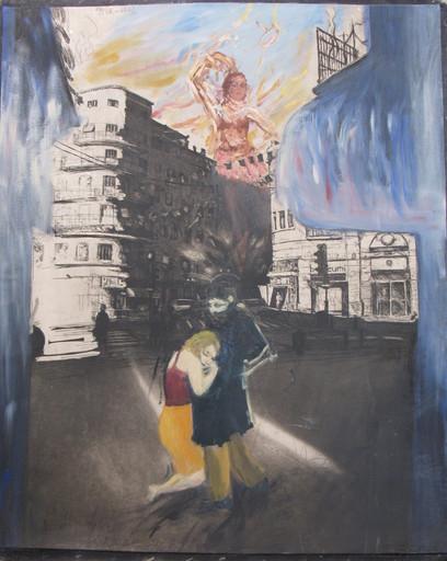 Ivan SCHWEBEL - Gemälde - * Untitled #6, Oil on Canvas with Graphite, 38