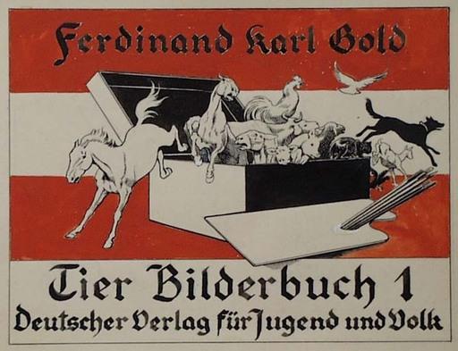 """Ferdinand Karl GOLD - Zeichnung Aquarell - """"Book Design"""" by Ferdinand Karl Gold (b.1882), Watercolor"""