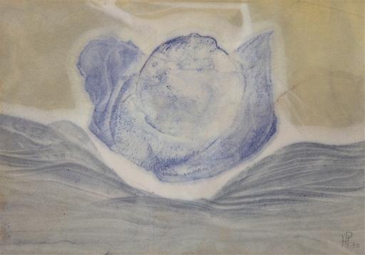 Henri Ernst PFEIFFER - Drawing-Watercolor - Gris-brun-blanc