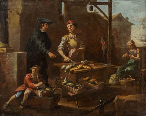 Giacomo Francesco CIPPER - Gemälde - The fishmonger