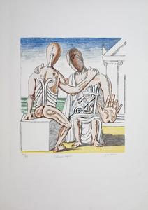 乔治•德•基里科 - 版画 - Colloquio Segreto, 1969