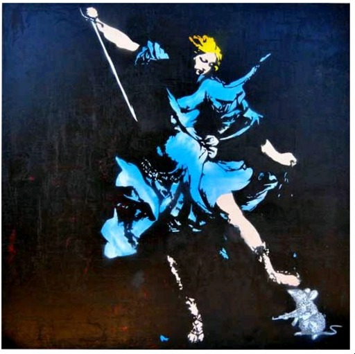 BLEK LE RAT - Painting - Rhapsody in blue