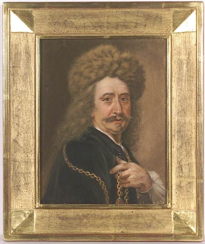 "Zeichnung Aquarell - ""Portrait of Pierre Dupuis"", ca 1700"