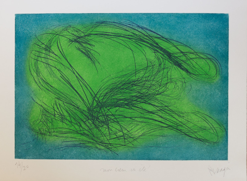 Jean MESSAGIER - Print-Multiple - Mon coeur en été