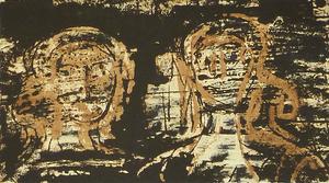 亨利•摩尔 - 版画 - Two Heads, from: Poetry | La Poésie