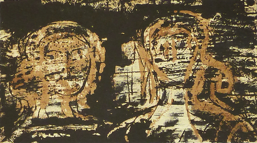亨利•摩尔 - 版画 - Two Heads, from: Poetry | La Poésie