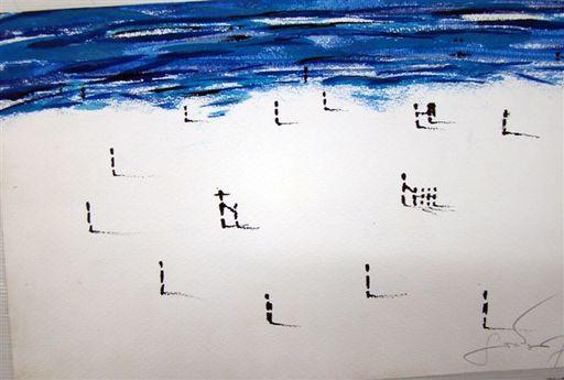 Albert SOCIAS - Painting - playa