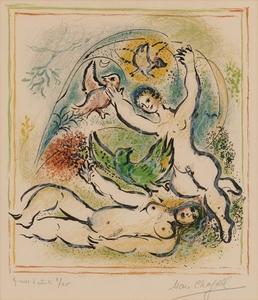 Marc CHAGALL, Pl.11 from 'Sur la Terre des Dieux'