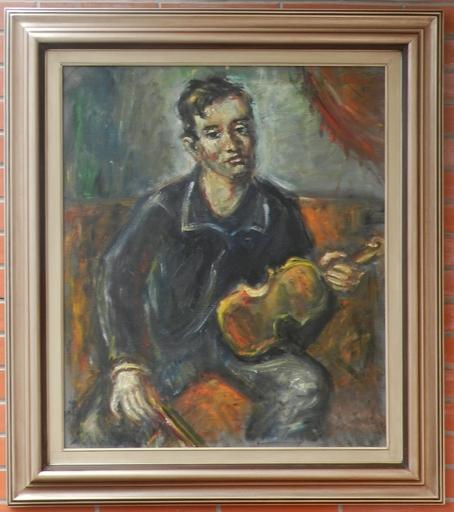 Jurai COLLINASY - Painting - Violinist