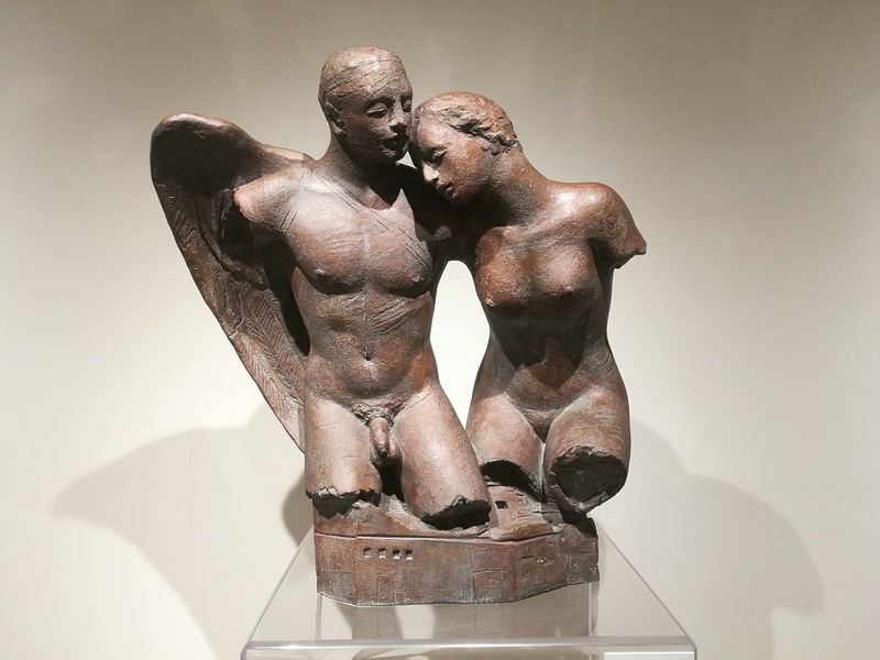 Igor MITORAJ - Scultura Volume - Bacio dell'angelo