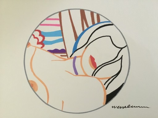 Tom WESSELMANN - Disegno Acquarello - BLONDE VIVIENNE