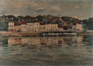 Takanori OGUISS - Painting - Pontoise, bord de l'Oise