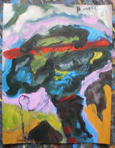 Bernard MOREL - Gemälde - LIGNE ROUGE