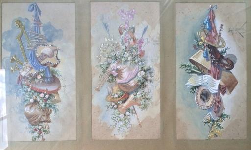 Valery Pavlovich OVSYANIKOV - Dibujo Acuarela - Allegorie auf die Musik