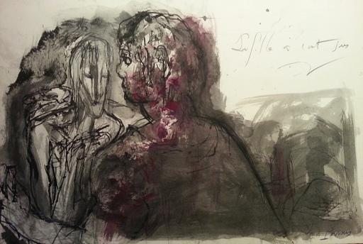 Pierre PARSUS - Drawing-Watercolor - La Fille à cent sous (G. Brassens)