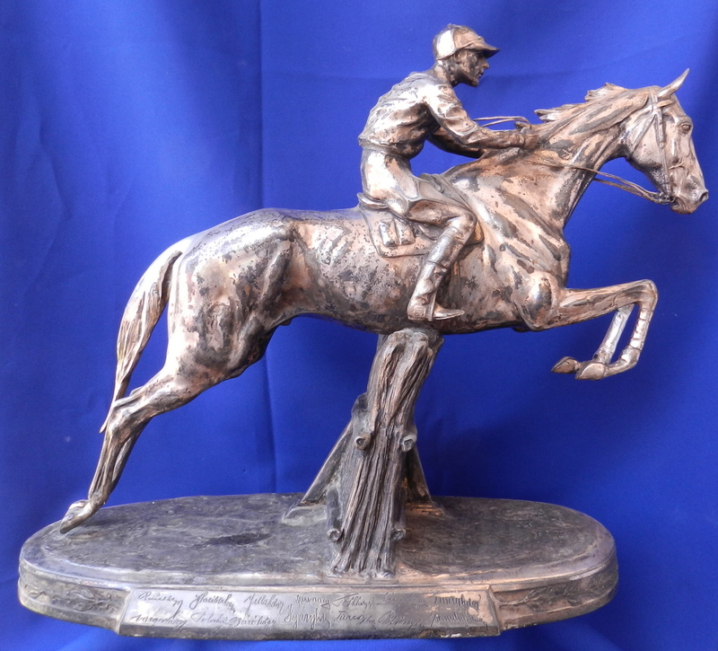 Wilhelm ZWICK - 雕塑 - Jockey on horse