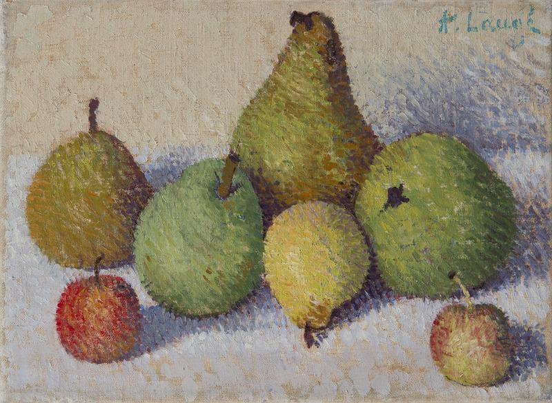 Achille LAUGÉ - Peinture - Nature morte aux cinq poires et aux deux pommes