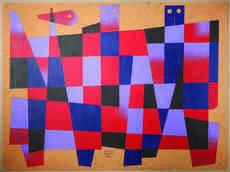 Carlos MÉRIDA - Painting - Composition aux personnages