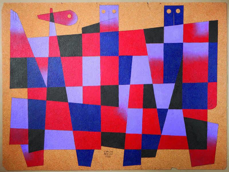 Carlos MÉRIDA - Peinture - Composition aux personnages
