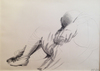 Emilio GRECO - Drawing-Watercolor - Figura