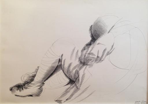 Emilio GRECO - Dessin-Aquarelle - Figura