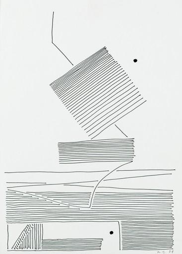 Michel SEUPHOR - Dibujo Acuarela - No title