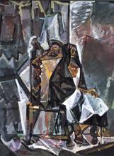 Romeo TABUENA - Painting - Mujer Sentada