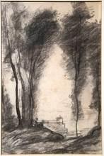 Camille Jean-Baptiste COROT (1796-1875) - Dessin au fusain