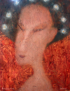 Roman ANTONOV - Painting - Geisha # 1