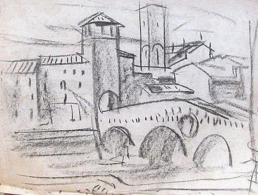 Erich HARTMANN - Dessin-Aquarelle - #19972: Verona.