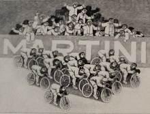 Alberico MORENA - Grabado - I ciclisti
