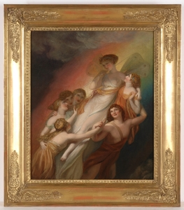 "Henry HOWARD - Pintura - ""Goddess Iris"", Oil Painting"