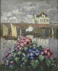 Konstantin Ivanovich GORBATOV, Flowers in the window